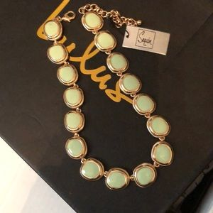 Necklace: Mint and Gold